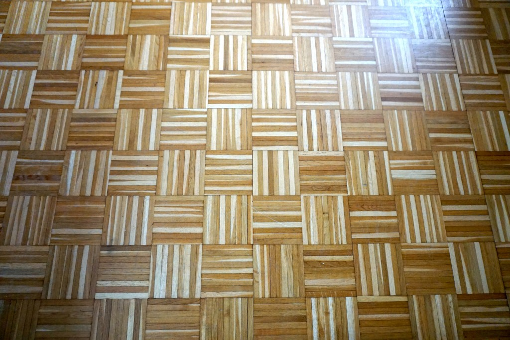 I loved the parquet floor in the sisters home. I had to take a picture :)